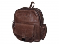 Backpack style 2 – front view - leather