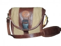 Camera Bag option 1 – leather and canvas combo