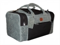 holdall grey ele and black canvas