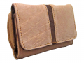 PURSE MOPANE N TEAK STRIP ELEPHANT