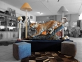 Showroom - Leopard and lamps