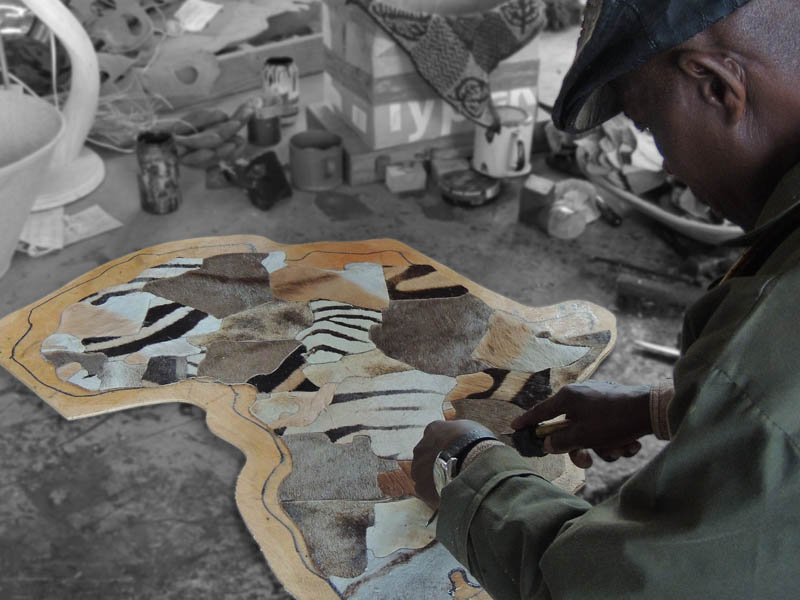Curios Department – beginnings of a fur tan map