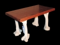 Giraffe leg bone coffee table-black.