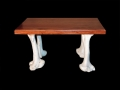 Giraffe leg bone coffee table