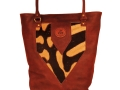 Zanzi bag softskin teak & zebra hide